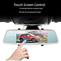 L1006 Grabador de conducción de espejo retrovisor, pantalla táctil de 7.0 pulgadas, lente doble HD de visión nocturna de 170 ° con monitor de estacionamiento Cámara de inversión de grabación en bucle