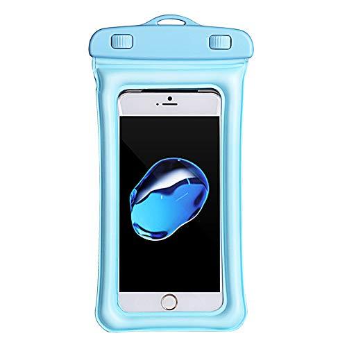 Wanshop  Handytasche Wasserdicht Wasserdichte Handyhülle universal Tasche für iPhone X/8/7 Kanu Wasser-, Staub-, schmutgeschützte Hülle, für Handys (Himmelblau) -
