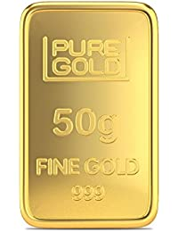 Joyalukkas Assayer Certified 50 grams 24k (999) Yellow Gold Precious Gold Bar