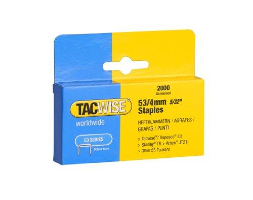 Tacwise Agrafes de Type 53 / 4 mm Galvanisées (Boîte de 2 000)