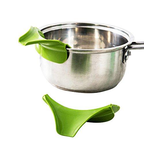 SwirlColor Küchenhelfer Silikon Ausgusstülle Mess freies Ausgießen Flüssigkeit Suppe Öl aus Schüsseln Pfannen Töpfe - 2