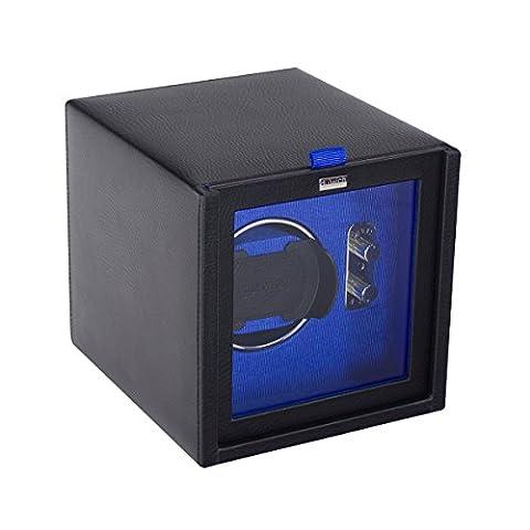 Dulwich Designs mens accessories   black & blue single watch winder rotator
