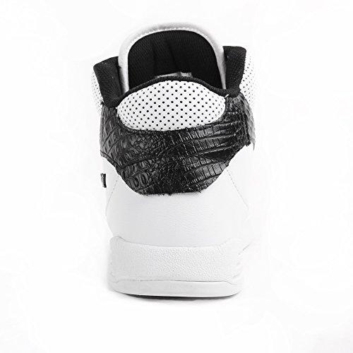 Supra  KHAN, Baskets hautes mixte adulte Blanc