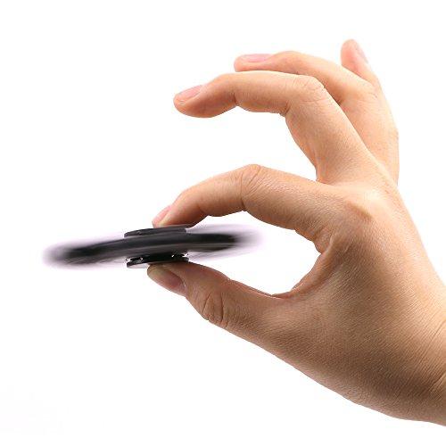 U-MISS Tri Fidget Hand Spinner/Cuscinetti Ultra Veloce/Giocattolo Fantastico Regalo – Perfetto per Alleviare Stress e Come Passatempo.(Nero) - 3