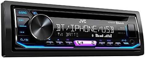 JVC KDR992BT 1-Din Radio CD Bluetooth Spotify Variocolor inkl Einbauset für VW New Beetle (9C) 1998-2010