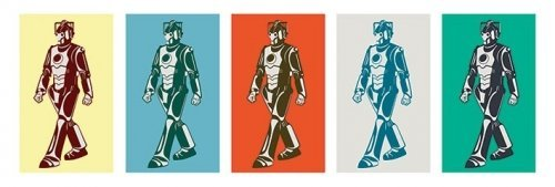 Doctor Who - Mini TV Show Door Poster (Pop-Art Walking Cyberman) (Size: 36 x 12) by Posterstoponline (Art Show Poster)