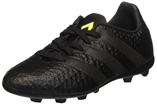 adidas Ace 16.4 Fxg, Scarpe da Calcio Unisex - Bambini, Nero (Core Black/Core Black/Solar Yellow), 32 EU