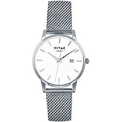 Silver Walmer 34mm Watch by Vitae London
