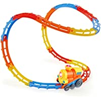 SainSmart Jr. Train Track Tumble Gioca Set, con luci e suoni, Rails montagne russe, Sucker Incluso, 23 Pezzi