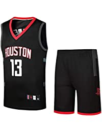 BUY-TO Rockets 13 Harden Paul 3 Shorts Traje de Uniforme de Baloncesto,13