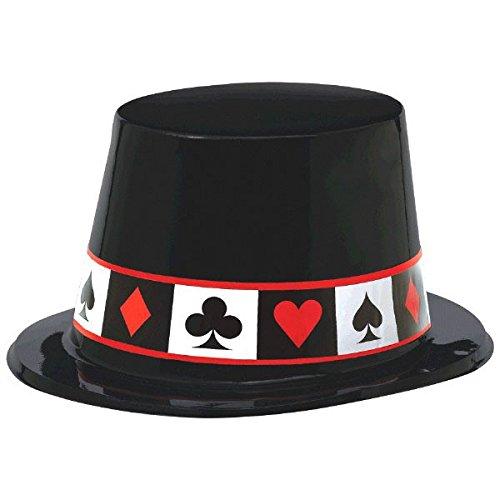 amscan 27,4x 22,8cm Casino Kunststoff Top Hüte