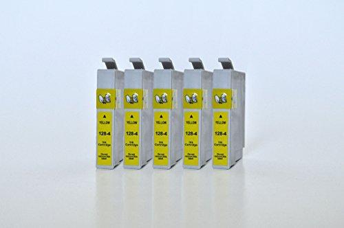 T1284 Printing Saver KIT 5 GIALLO cartucce d'inchiostro compatibili per EPSON Stylus S22 SX125 SX130 SX230 SX235W SX420W SX425W SX430W SX435W SX438W SX440W SX445W SX445WE Office BX305F BX305FW Plus