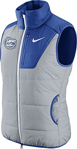 Nike Women's Florida Gators Grey/Blue Champ Drive Vest Size Small (Champs-patch)