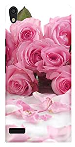 TrilMil Printed Designer Mobile Case Back Cover For Huawei Ascend P6