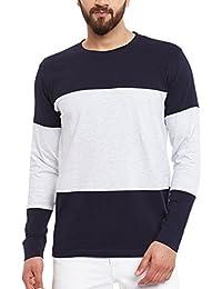 The Dry State Men's Cotton Branded Stylish Full Sleeves Plain Tshirt