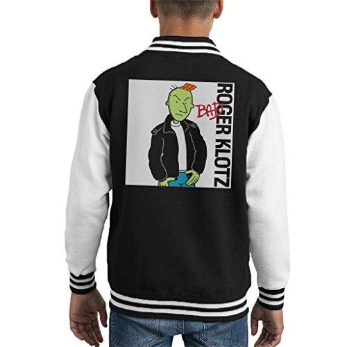 Doug Roger Klotz Michael Jackson Bad Album Cover Kid's Varsity Jacket