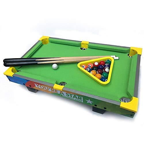 Mini mesa de billar piscina juego de mesa de billar con piscina Pequeño pequeño mini mesa de billar for el adulto y Chindren Juego familiar divertido ( Color : Verde , tamaño : 51.5x31.5x15cm )