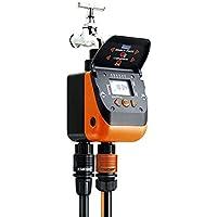 Claber Aquadue Duplo Evolution Digital watering timer 2 - temporizadores de riego (Digital watering timer, De plástico, Negro, Naranja, LCD, Botones, 6LR61)