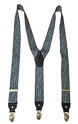 Navaksha Black Y-Back Suspender for Men
