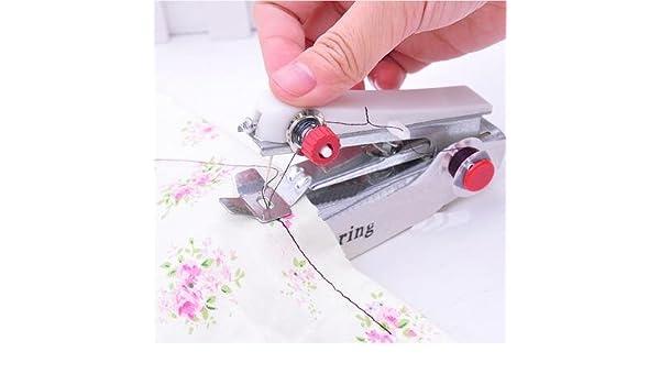 Mini Portable Needlework Cordless Hand-Held Clothes Fabrics Sewing Machin CLF