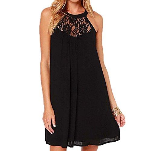 Kleider SANFASHION Damen Frauen Sommer ärmelloses Kleid Bodycon Abendgesellschaft Short Mini Dress Sommerkleid