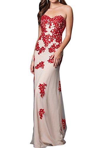 ivyd ressing Femme cœur de la découpe Étui ligne Motif dentelle tuell Lave-vaisselle robe Prom robe robe du soir Rouge