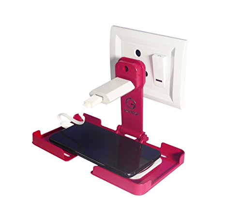 Greatech Cases Mobile Charging Stand Wall Holder for Almost All Mobile Phones
