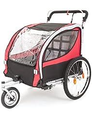 Grue 2en 1Enfants pendentif Remorque de vélo + Jogger pour 2enfants TÜV/GS