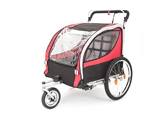 Kranich 2in1 Kinderanhänger Fahrradanhänger + Jogger TÜV/GS für 2 Kinder