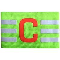 SHEDEU Brazalete Elástico Ajustable de Nailon Transpirable para Capitán o Fútbol, para Ejercicio, Cuidado de la Salud, Color Verde
