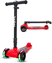 BAYBEE Kids Speed Force Scooter , 3 Wheel Smart Kick Scooter with Foldable and Height Adjustable Handle, Age 3