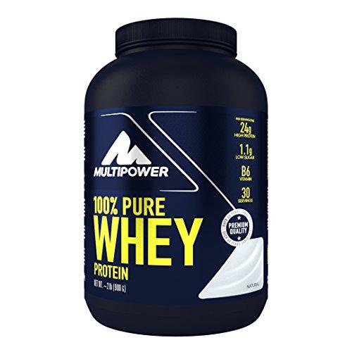 Multipower 100{4c59878c2caa4317c1359d3989af5d97e40a2ac04a6c68d39be4349ecefe1ee0} Pure Whey Protein, lösliches Whey Proteinpulver ohne Aspartam und Gluten, enthält essentielle Aminosäuren (BCAA), Eiweißpulver zum Backen und Kochen, Neutral, 900 g