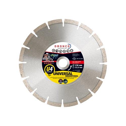 Dronco U3-115 Discos de Diamante 115 Mm Di/ámetro Universal Obra Di/ámetro Eje 22.23 Mm Antes St 2 Mm Espesor U3