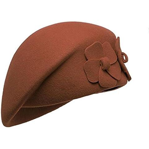 WE&ZHE Lana Mujer sombrero de la boina Inglaterra Estilo retro popular de la manera en otoño e invierno ,