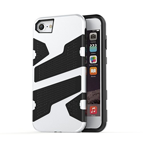 "iPhone 6s Plus Hülle, HICASER Hybrid Shock Proof TPU Case Mesh PC Bumper Frame Handytasche Schutzhülle für iPhone 6 Plus / 6s Plus 5.5"" Hellblau Silber"