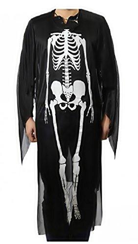 Inception pro infinite wid - costume - da scheletro - adatto a bambini - travestimento carnevale halloween cosplay - taglia unica