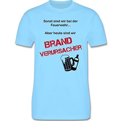JGA Junggesellenabschied - Brandverursacher - Herren Premium T-Shirt Hellblau