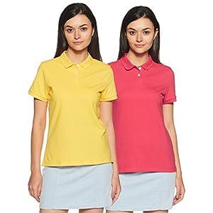 Amazon Brand – Symbol Women's Plain Polo (Pack of 2)
