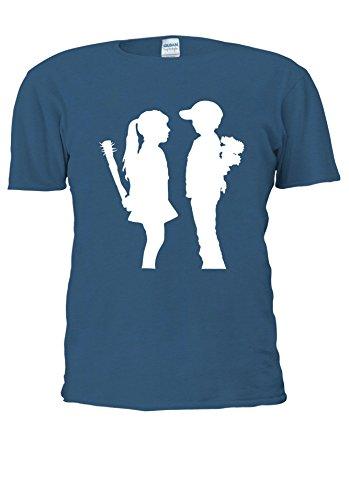 BANKSY Girl and Boy Relationsh?ip Meaning Men Women Unisex Top T Shirt-M