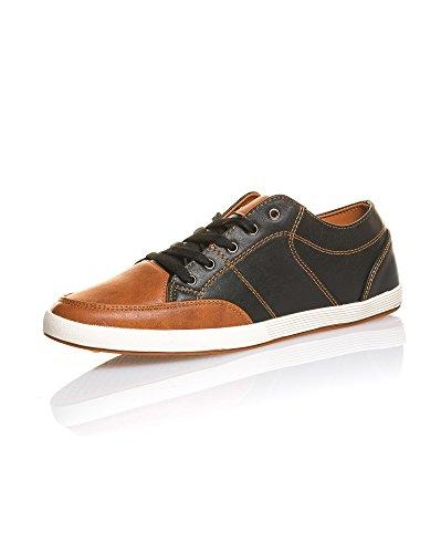 BLZ Jeans Chaussure Homme Basse Noir Et Marron