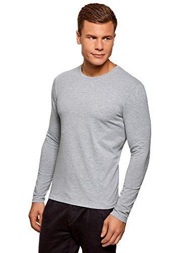 Oodji ultra uomo t-shirt con maniche lunghe senza etichetta (pacco di 2), multicolore, it 50-52/eu 52-54/l