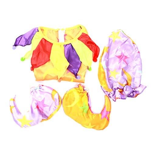 BESTOYARD Clown Kostüm Sets Karneval Kreative Leistung Vergnügungspark Kostüm Set für Mann Frau Dress Up (Geeignet für 170-180 Höhe)