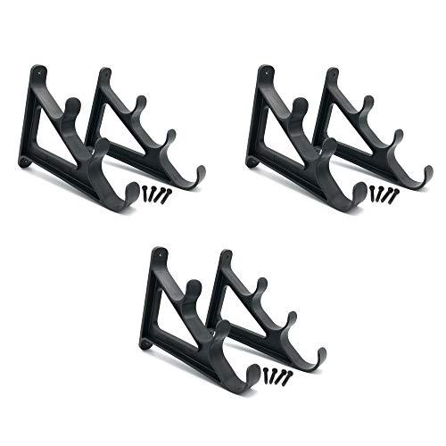 Zite Fishing Angelruten Wandhalter Set - Rutenhalter für Wandmontage - Horizontal Rod Racks (3 Paar)
