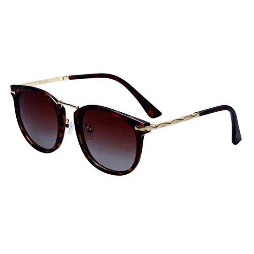 BAIYICHEN Sonnenbrillen für Damen Retro Frauen-polarisierte Sonnenbrille Fährt Anti-Glare-UV400 Schützt Das Auge Haut Sonnenschutz (Farbe : B) -