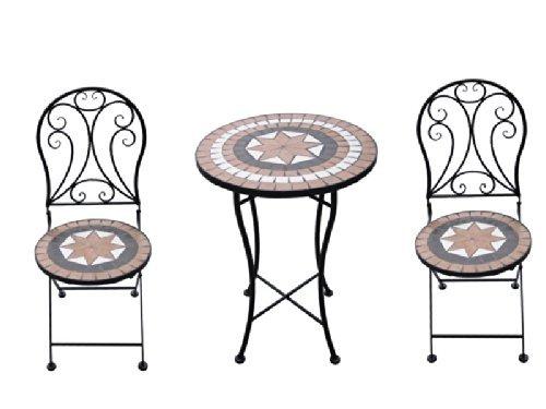 Giardino Mosaikset Gartenset 1 Tisch + 2 Stühle AY2656