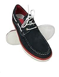 Zerimar Zapato Estilo Casual con Cordones Fabricado EN Piel Color Azul Marino Talla 46 sjt5G
