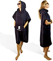 SUNSSEA Surf beach poncho, adult hooded towel, changing towel for the beach, bath and swimming pool! Changing