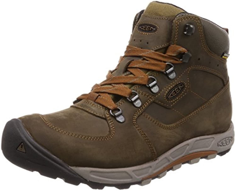 Rioneo Herren Winterstiefel Outdoor Winter Boots Warm Fell Gefüttert Schneestiefel Slip on Schuhe Schwarz Blau