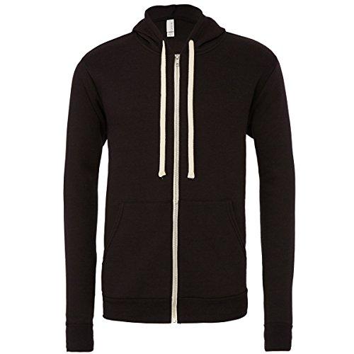 Unisex triblend full zip hoodie Solid Black Triblend (Maske Hoodie Full Zip)