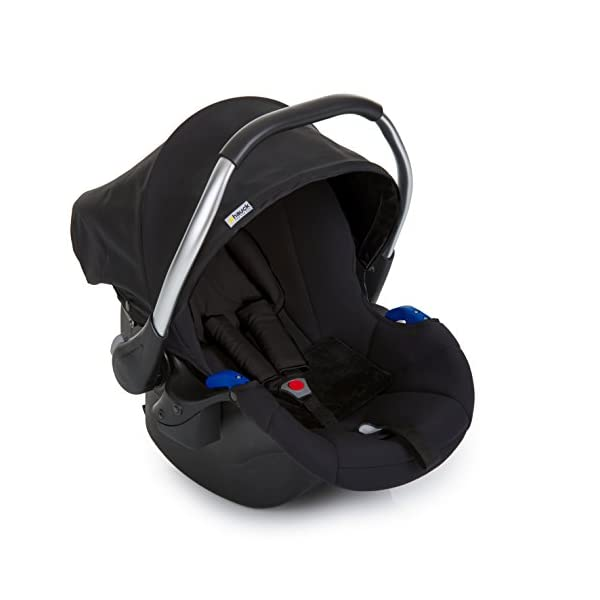Hauck Comfort Fix, Lightweight Infant Car Seat Group 0+, ECE 44/04, from Birth to 13 kg, Side Impact Protection, Compatible with hauck Isofix Base, Black Hauck Compatible with hauck comfort fix base Side impact protection Quality, breathable stretch fabrics 1